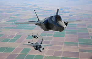 F-35B Lightning II aircraft in formation (library image) [Picture: © 2013 Lockheed Martin Corporation]