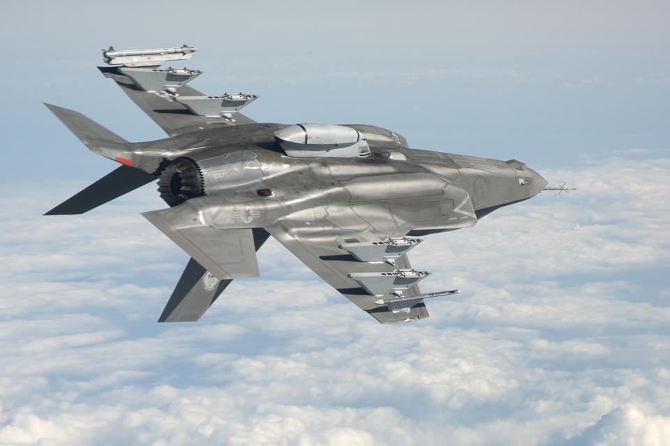 F-35B Lightning II aircraft in flight