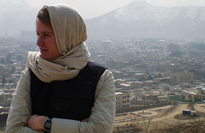 Ministry of Defence policy advisor Jenna Clare in Kabul, Afghanistan