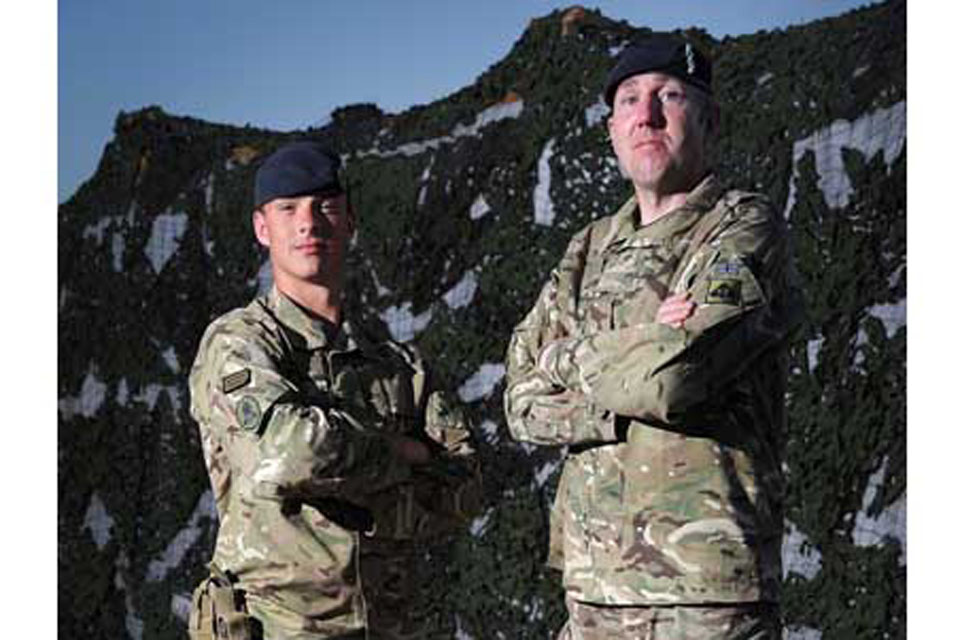 Explosive Ordnance Disposal specialists Lance Corporal 'Ash' Ashfield (left) and Warrant Officer Class 2 Andrew Willoughby