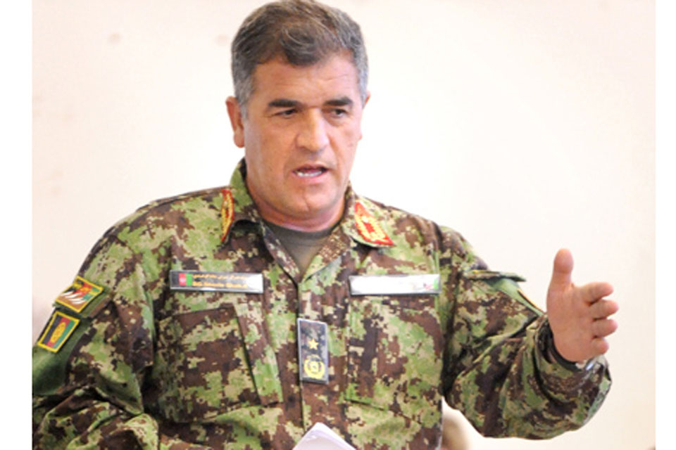 Brigadier General Sherin Shah talks members of 4th Mechanized Brigade