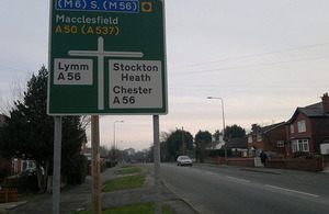 A50 road sign