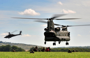 Troops training on Salisbury Plain (library image) [Picture: Crown copyright]