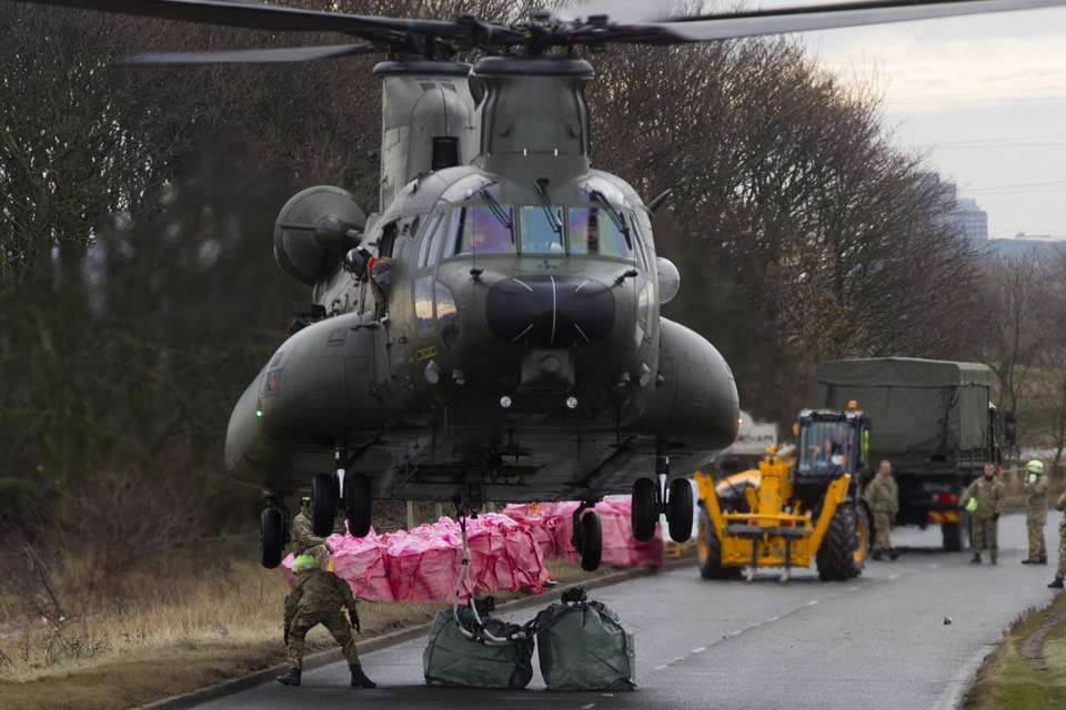 An 18 Squadron Chinook