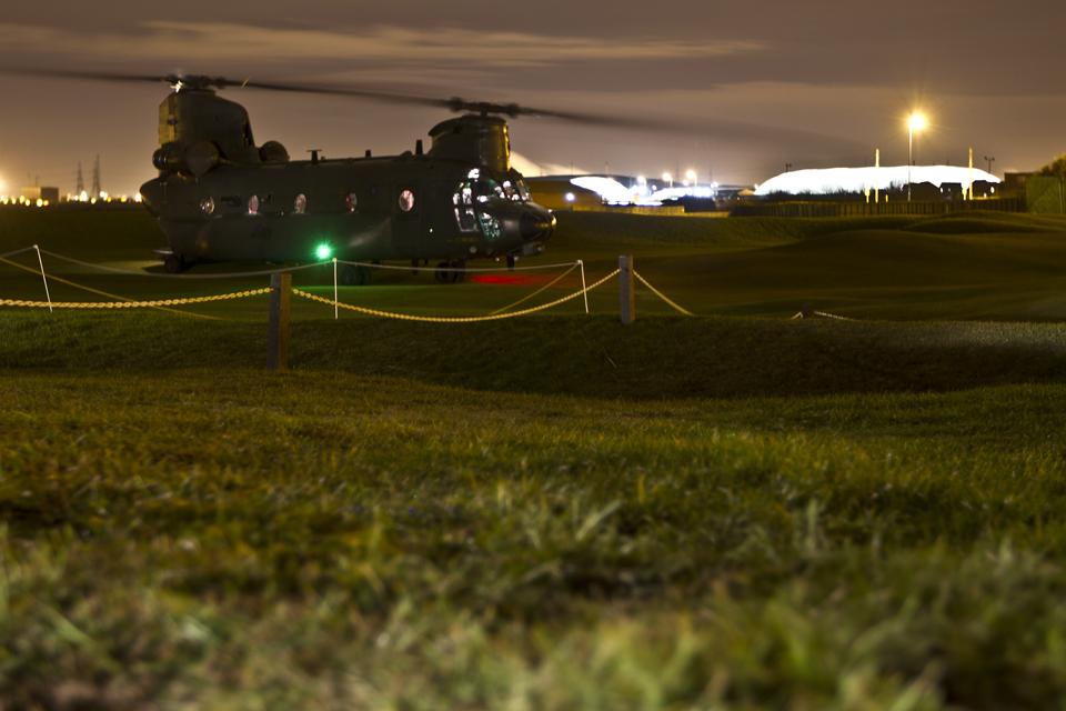 An 18 Squadron RAF Chinook