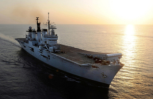 HMS Illustrious at sea (library picture) [Picture: Leading Airman (Photographer) Nicky Wilson, Crown copyright]