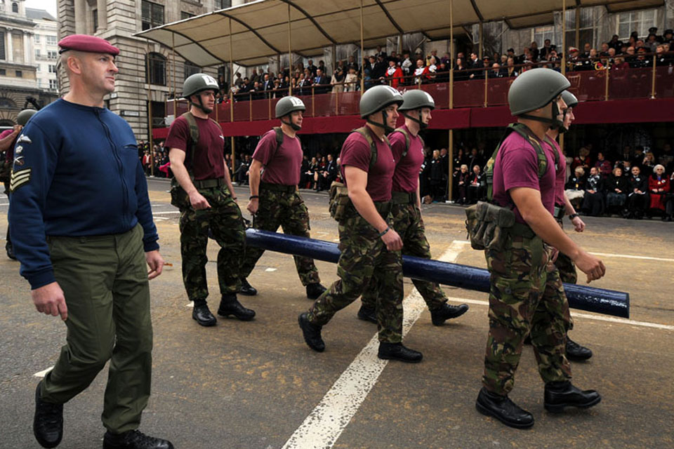 Armed forces prominent at lord mayor of london 39 s show announcements gov uk - Royal marines recruitment office ...