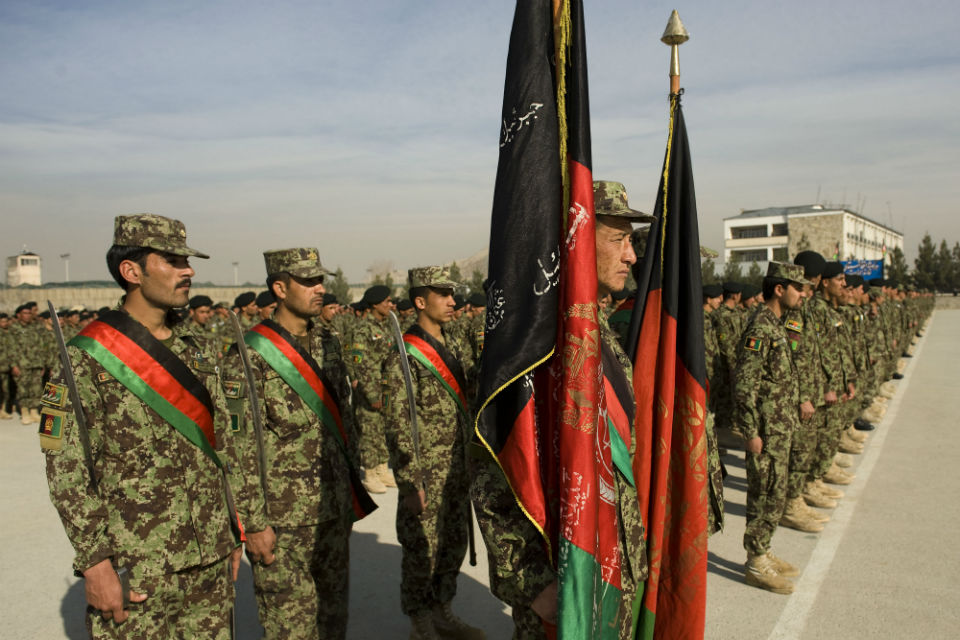 Afghanistan National Security Forces on parade
