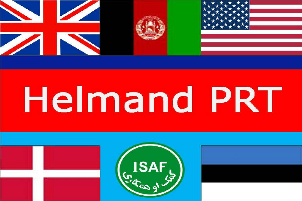 Helmand Provincial Reconstruction Team logo.