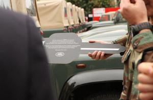At Kfashima base Land Rover Keys