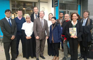 Stephen Williams meeting volunteer 'Health Champions' at the St Paul's Way Neighbourhood Centre, Poplar
