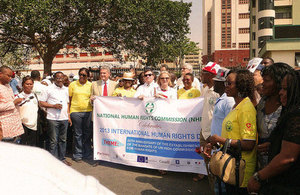 Start of the march for Human Rights day in Abuja