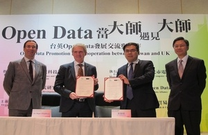 The UK's Open Data Institute (ODI) and Taiwan's Open Data Alliance (ODA) have signed a Letter of Intent