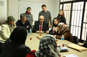 Minister Hugh Robertson visits Syrian refugees in Lebanon