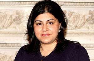 UK Senior Foreign Office Minister Baroness Warsi