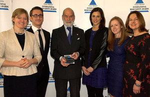 The THINK! team with Prince Michael