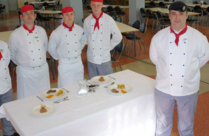 Staff Sergeant Alan Betteridge and his team of Army chefs