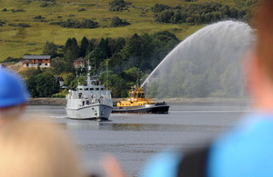 HMS Grimsby returns to her home port of HM Naval Base Clyde