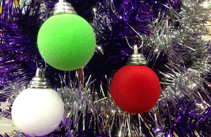 Christmas tree baubles [Picture: Crown copyright]