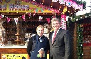 Brandon Lewis visits Southbank Christmas Market