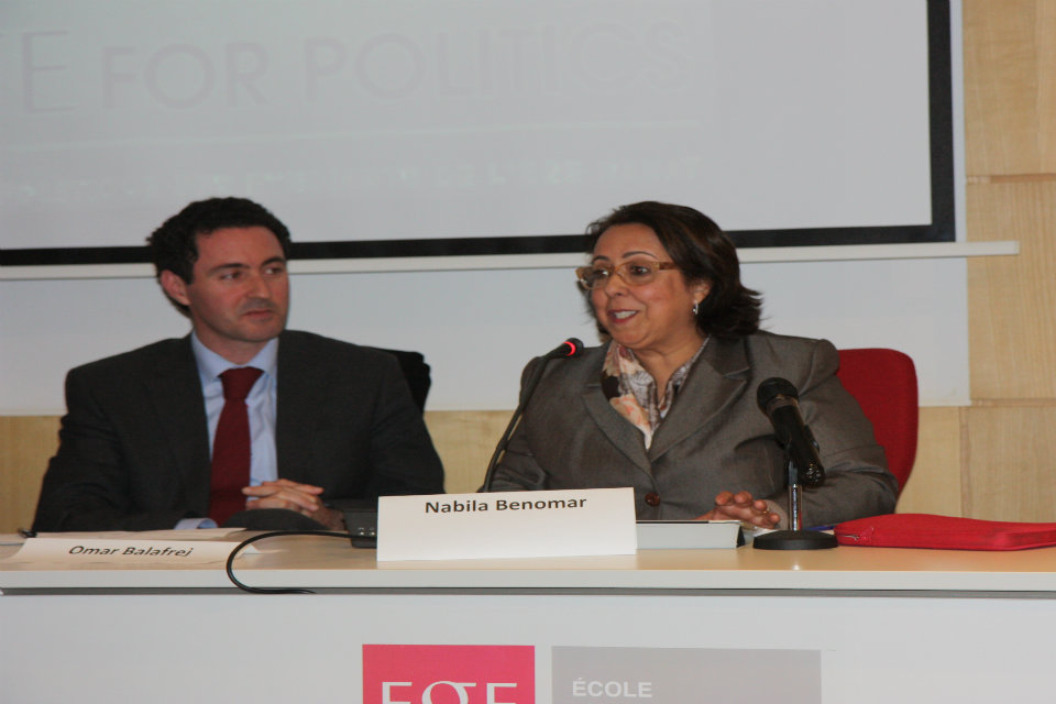 Nabila Benomar, PAM Party MP, and Omar Balafrej, President of Bouabid Foundation