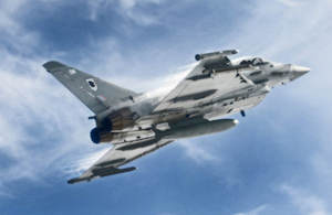 An RAF Typhoon jet accelerates and climbs rapidly during a training sortie (library image) [Picture: Senior Aircraftman Andrew Seaward, Crown copyright]