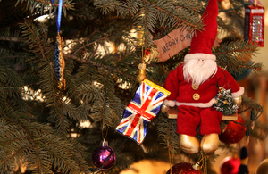 The British Embassy in Beijing closed for Christmas and New Year