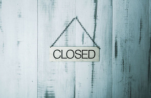 We are closed