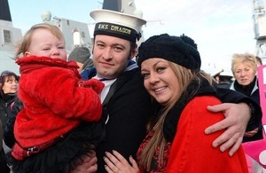 A sailor with his family (library image) [Picture: Leading Airman (Photographer) Maxine Davies, Crown copyright]
