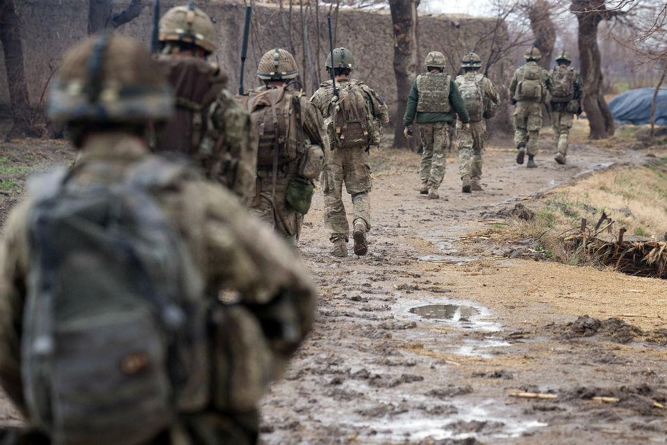 Soldiers on patrol.