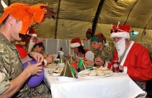 British troops celebrating Christmas at Main Operating Base Price in Helmand province (library image) [Picture: Leading Airman (Photographer) Rhys O'Leary, Crown copyright]