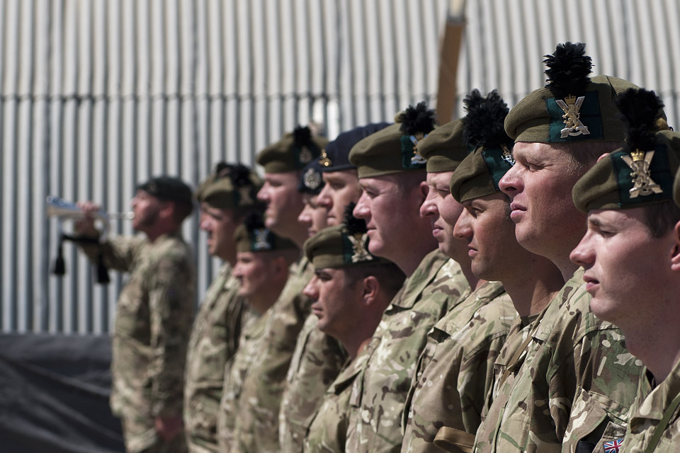 Soldiers of 1st Battalion The Royal Regiment of Scotland