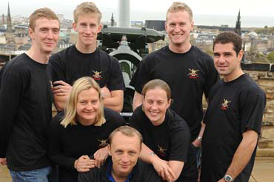 The Army climbing team at Edinburgh Castle