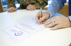 Standard Life signing the corporate covenant [Picture: Standard Life]