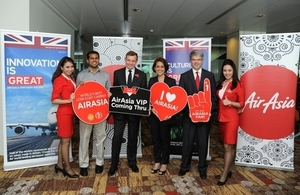 David Jones with executives from AirAsia in Singapore earlier this year