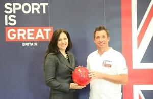 British Deputy Ambassador Rebecca Razavi with Robbie Fowler