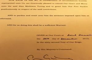 Dr Alan Turing pardon