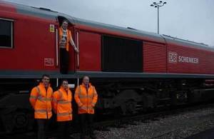 Baroness Kramer and train staff