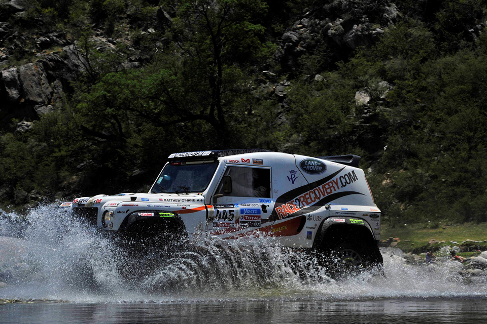 A Race2Recovery Wildcat rally-raid vehicle in action
