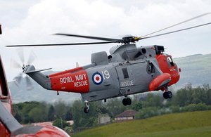 A Royal Navy search and rescue Sea King helicopter from HMS Gannet (library image) [Picture: Chief Petty Officer Airman (Photographer) Thomas McDonald, Crown copyright]