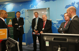 The FAC visit the crisis centre