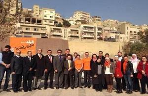 "British Ambassador to Jordan Peter Millett during the launch of the ""Al Balad Natheefa Bi Ahlha"" project"