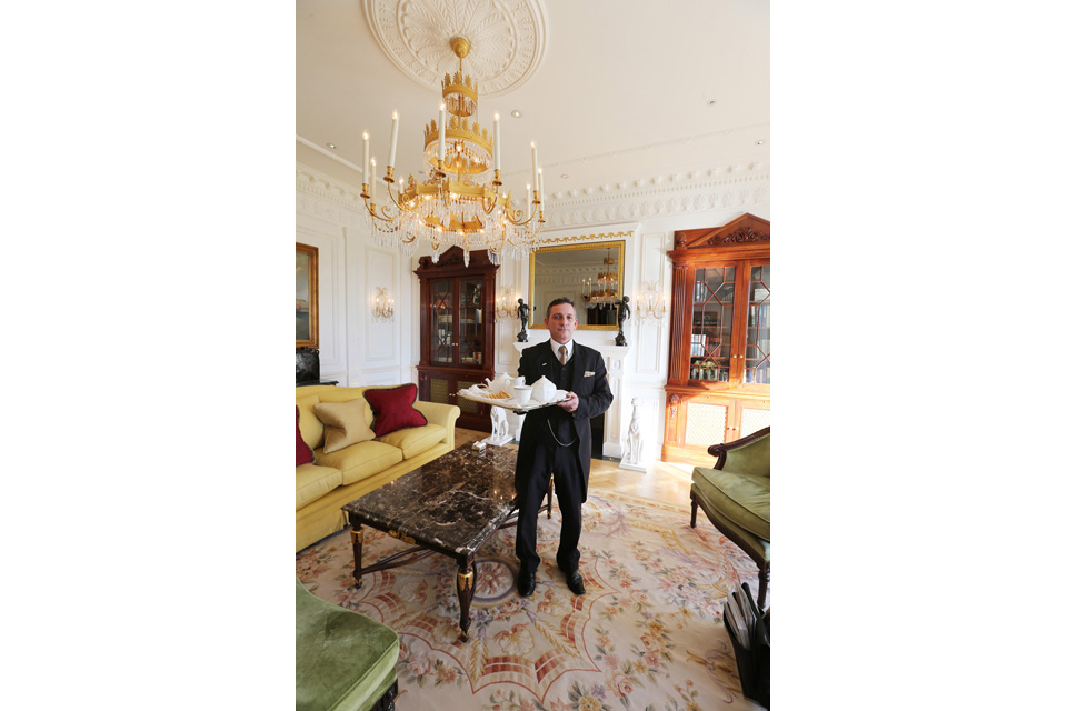 Former British Army warrant officer Steven Grey in his new role at the Savoy in London