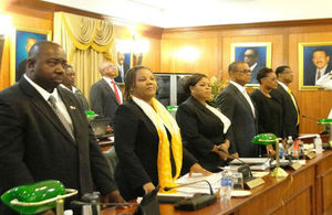 Members of the TCI Cabinet in the House Of Assembly.