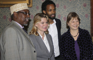 Justine Greening meets with UK Somalis in Ealing. Picture: Matt Sauvajon-Lesslar/DFID