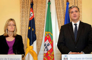 Ambassador Jill Gallard and the President of the Regional Government, Mr Vasco Cordeiro