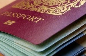 Closeup of British passport