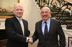 Foreign Secretary William Hague meeting Hungarian Foreign Minister János Martonyi