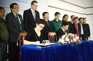University of Wolverhampton signs MOU with the National University of Laos