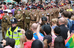 Members of the British Army taking part in the 2012 World Pride march in London (library image) [Picture: Petty Officer Airman (Photographer) Terry Seward, Crown copyright]